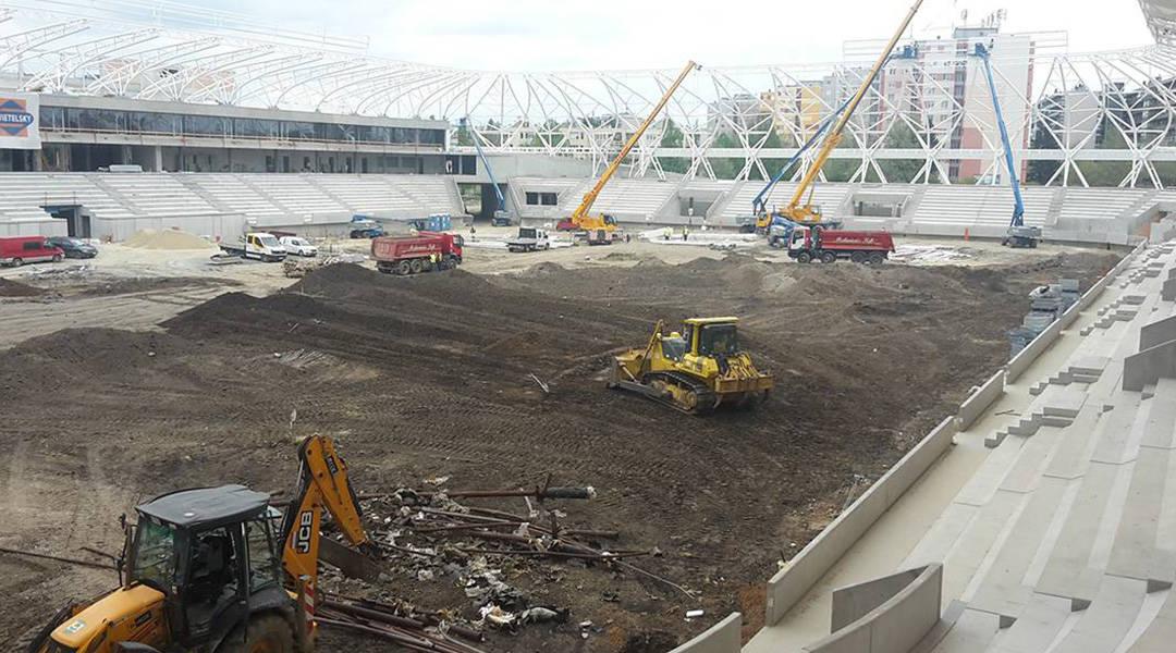 Sports field construction